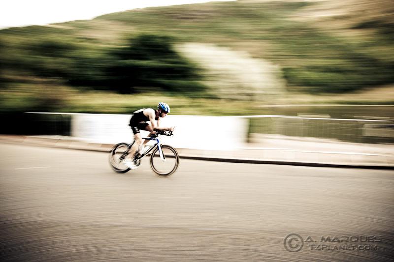 Cyclist at the 2010 GE Edinburgh ITU Duathlon World Championship
