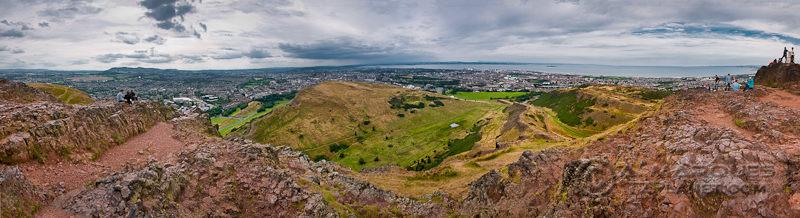 West Edinburgh from Arthur's Seat