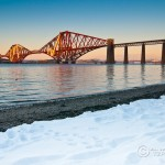Forth Rail Bridge at Sunset (with Snow)