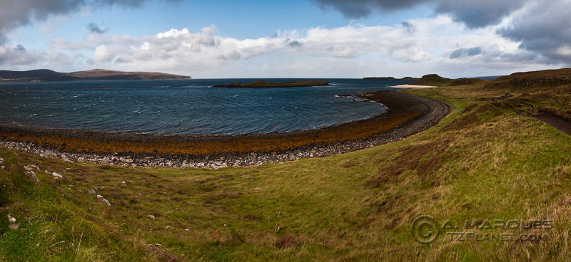 Approaching Coral Beach and Lampay, Isle of Skye, Scotland