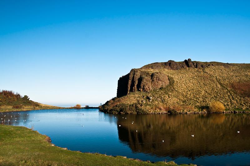 Dunsapie Loch in Autumn, Edinburgh, Scotland
