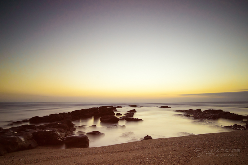 Long exposure at sunset in december, Cabo Mondego, Figueira da Foz, Portugal