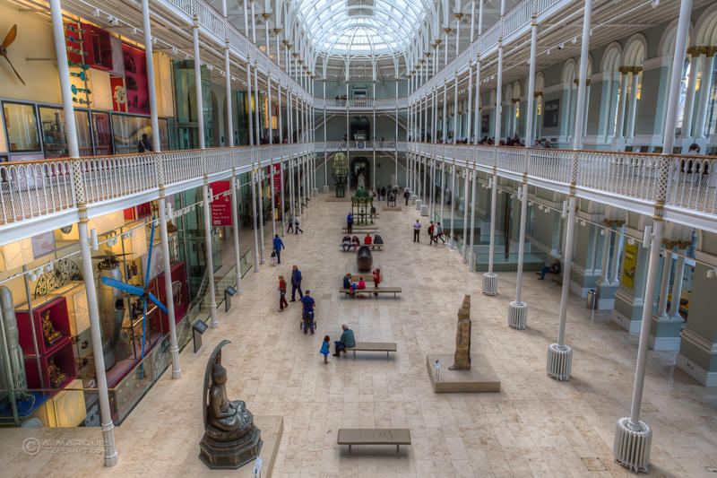 Central Hall at the National Museum of Scotland, Edinburgh.