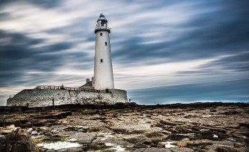 st mary's lighthouse, whitley bay, england