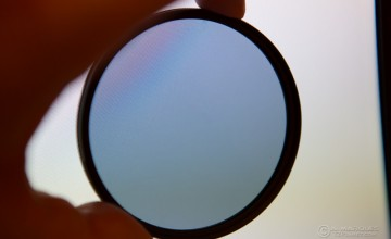 Image of a Circular Polarizer being held by hand
